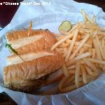 Cheese steak (with peppers and onions) with fries