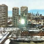 city view after snowfall