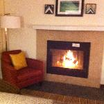 Fireplace in livingroom