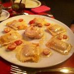 Crab stuffed Ravioli