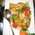 Tofu and veggies is really delicious.