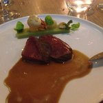 venison with smoked tea and chocolate sauce