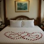 Special arrangement from the hotel for honeymoon