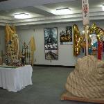 諏訪大社御柱祭りの展示品