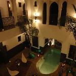 Cour du Riad le soir