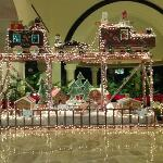 gingerbread display in the lobby