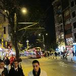 Sultanahmet street at night