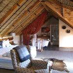 our thatched roof room