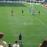 Scoring a try at rugby 7's tourney at PPL Park