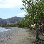 Black soft sanded beach