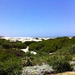 Der Blick von unserem Guesthouse auf diesem tollen Beach