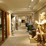 Asian art in the cavernous corridors