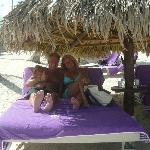 Relaxing under the Palapa