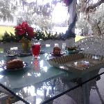 Outside porch dining
