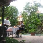 Lunch in the garden of Villa Rivera