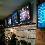 Plenty of TVs and beer. Great for game day.