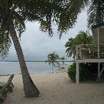 Cabanas right on the beach