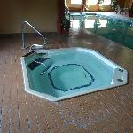 The hot tub was a welcome treat after exercising!