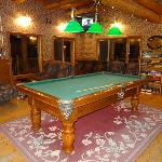 Pool table in the family area.