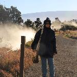 cornice cratere kilauea con fumarole