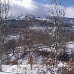 Vista del Pico Ocejón desde las habitaciones del Hostal