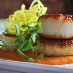 Crab Cake & Fresh Scallops