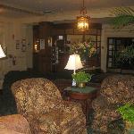 Lovely lobby & reception desk, Hawthorne Hotel, Salem, MA