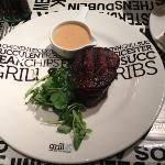 Well done Fillet Steak (Chips out of shot)