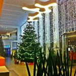 Hotel Lobby at Christmas Time