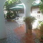 Outdoor patio/garden for quiet reading or a cuban cigar...