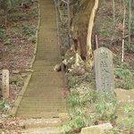 八菅神社に登る階段道