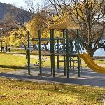 Kids play area directly across the road from Esplanade Queenstown