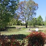Landscaped pond and camping grounds
