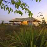 """""""The Teakhouse"""" at Svasara Lodge - an outdoor pavillion for dining"""