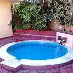 The jacuzzi pool inside your villa