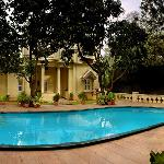 The swimming pool at Villa Pottipati !