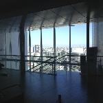 Looking over the city from the Lobby on level 20