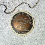 geo marker on observation deck