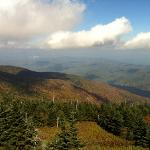 On a (mostly) clear day from Mt. Mitchell Oct 5 2012