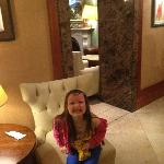 cara in reception area