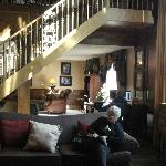 Lobby offers comfy, local charm to weary travellers