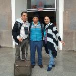 Despedida en el aeropuerto de Cusco
