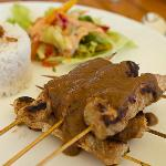 A typical meal - My main course Chicken Satay