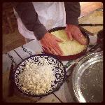The Kunafa in the making