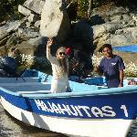 Boat ride to Majahuitas