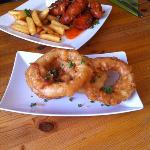 Sweet Chilli Chicken @ Beer Battered Onion Rings