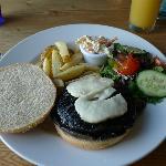 Mushroom and Halloumi Burger