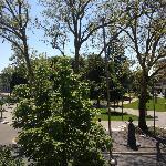 Vue du balcon sur le parc
