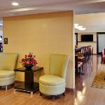 The inviting lobby of our Hampton Inn & Suites Fresno hotel.