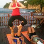 Acro Yoga on the deck!